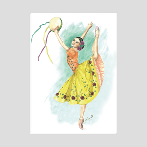 Easel Back Canvas Ballerina art | Ballerina Print On Canvas With Easel Back | Standing Canvas | Ballet | Ballet Gift - Ballet Geek