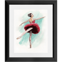"Load image into Gallery viewer, While I Breathe, I Shine Ballerina Wall Art  | 11"" by 14"" Matted & Framed Ballerina Art - Ballet Geek"