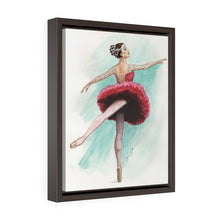 Load image into Gallery viewer, While I Breathe, I Shine Ballerina Framed Premium Gallery Wrap Canvas | Ballerina Art On Canvas | Ballet wall Art | Ballet Decor | Ballet Gift - Ballet Geek