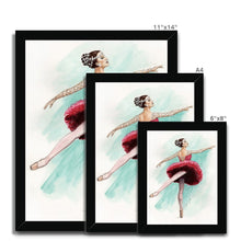 Загрузить изображение в средство просмотра галереи, While I Breathe, I Shine Ballerina Framed Art | Wall Art | Ballerina Picture Frame | Ballerina Wall Art | Home Decor Gift - Ballet Geek