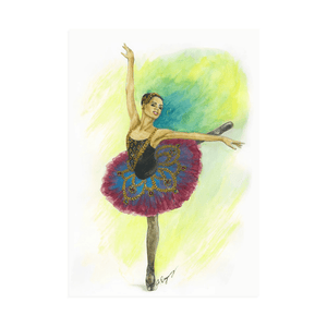 Easel Back Canvas Ballerina art | While I Breathe, I Hope Ballerina Print On Canvas With Easel Back | Ballet Art  | Ballet - Ballet Geek