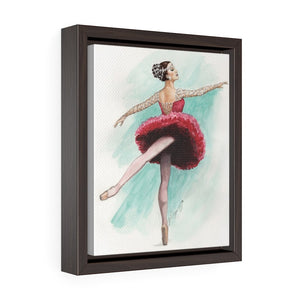 While I Breathe, I Shine Ballerina Framed Premium Gallery Wrap Canvas | Ballerina Art On Canvas | Ballet wall Art | Ballet Decor | Ballet Gift - Ballet Geek
