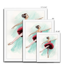 Load image into Gallery viewer, While I Breathe, I Shine Ballerina Framed Art | Wall Art | Ballerina Picture Frame | Ballerina Wall Art | Home Decor Gift - Ballet Geek
