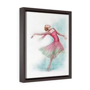 While I Breathe, I Dance Ballerina Framed Premium Gallery Wrap Canvas | Framed Canvas | Illustrated Ballerina Wall Art - Ballet Geek