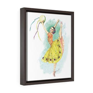 While I Breathe, I Celebrate Ballerina Framed Premium Gallery Wrap Canvas | Illustrated Ballerina On Framed Canvas | Ballet Wall Art | Wall Art - Ballet Geek