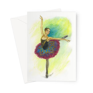 Ballerina Greeting Cards by 1pc / 10 pack ( Print In UK ) | Ballet Greeting Cards | Greeting Cards | Ballet Gift - Ballet Geek