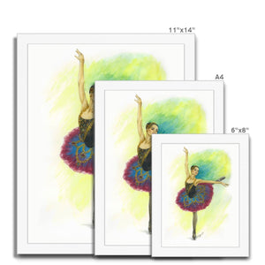 While I Breathe, I Hope Ballerina Art Framed | Illustrated Ballerina Print In Picture Framed - Ballet Geek