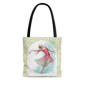High-Quality Tote Bag  - While I Breathe, I Dance Ballerina Print | Ballet Tote Bag - Ballet Geek