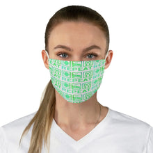 Load image into Gallery viewer, Fabric Face Mask Blue Green Ballet | Ballet Face mask | face Mask | Ballet | Dance Accesory