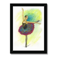 Load image into Gallery viewer, While I Breathe, I Hope Ballerina Art Framed | Illustrated Ballerina Print In Picture Framed - Ballet Geek