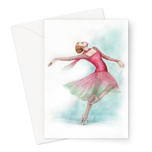 Ballet Greeting Cards by 1pc / 10 pack ( Print In UK ) | Illustrated Ballerina Greeting Cards | Gift for Ballet Dancer | Stationary - Ballet Geek