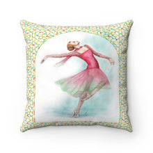 Load image into Gallery viewer, While I Breathe, I Dance Ballerina Pillow | Ballet Decorative Pillow - Ballet Geek