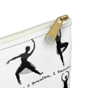 While I Breathe, I Dance Accessory Pouch | Accessory Bag | Ballet Gift | Dancer Pouch - Ballet Geek