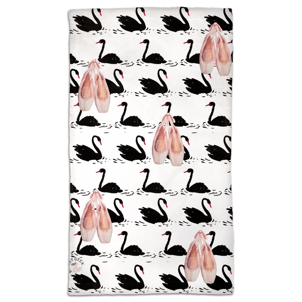 Toe Shoes Swan Travel Size Towel | Gym Towel | Ballet Accessory | Ballet Gift - Ballet Geek
