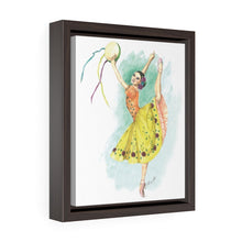 Load image into Gallery viewer, While I Breathe, I Celebrate Ballerina Framed Premium Gallery Wrap Canvas | Illustrated Ballerina On Framed Canvas | Ballet Wall Art | Wall Art - Ballet Geek