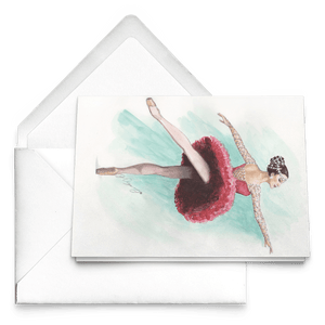 Greeting Cards Ballet Art ( in 10/30/50 pcs Print In USA) | Illustrated Ballerina Print On Greeting Cards | Ballert Art Greeting Cards | All Occasion Greeting Cards Ballet Illustration