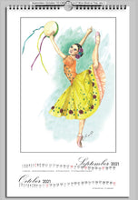 Load image into Gallery viewer, Ballet calendar 2021\while I breathe, I dance calendar\2021 calendar