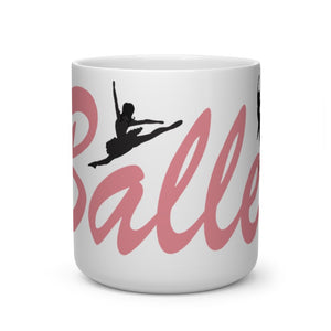 I Love Ballet Mug | Ballet Quote Mug | Coffee Mug | Ballet Gift | Heart Shape Mug - Ballet Geek