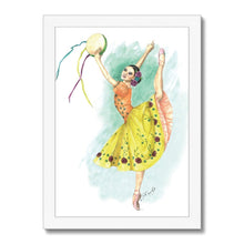 Load image into Gallery viewer, While I Breathe, I Celebrate Ballerina Art Framed | Illustrated Ballerina Print Framed | Ballet Art Framed | Wall Art | Ballet Home Decor - Ballet Geek