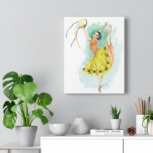 Canvas Gallery Wraps Ballet Art | While I Breathe, I Celebrate Ballerina On Wall Canvas - Ballet Geek