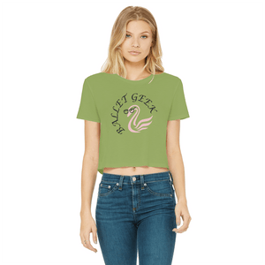 Ballet Geek Cropped Raw Edge T-Shirt In Various Colors | Ballet Cropped T-Shirt