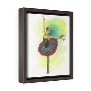 While I Breathe, I Hope Ballerina Framed Premium Gallery Wrap Canvas |  Ballerina Art Framed Canvas - Ballet Geek