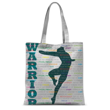 Load image into Gallery viewer, Classic Tote Bag Warrior Pose Graphic Print\Male Dancer Tote Bag