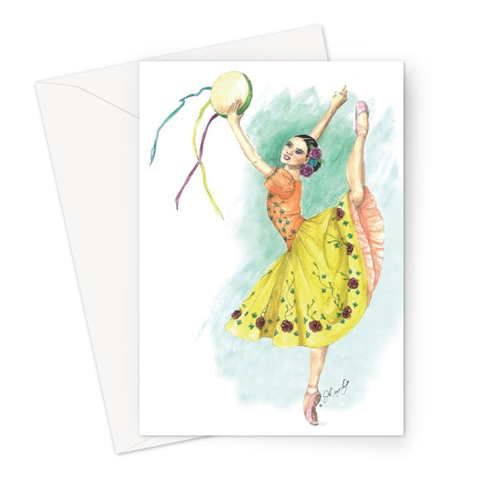 Greeting Cards by 1pc / 10 pack ( Print In UK ) | While I Breathe, I Dance Ballerina Greeting Cards - Ballet Geek