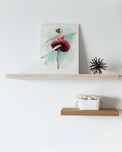 Load image into Gallery viewer, Canvas with Easel Back | While I Breathe, I Shine Ballerina on Standing Canvas | Room Decor - Ballet Geek