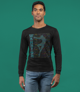 Warrior graphic long sleeves tshirt In euro fit style/ male dancer tshirt