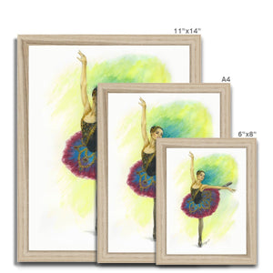 While I Breathe, I Hope ballerina Art Framed | Ballerina  Picture Frame | Home Decor  | Ballet Wall Art | Wall Art
