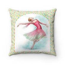 Load image into Gallery viewer, While I Breathe, I Dance Ballerina Pillow | Ballet Decorative Pillow |  Decorative Pillow | Ballet Gift | Home Decor| Pillow