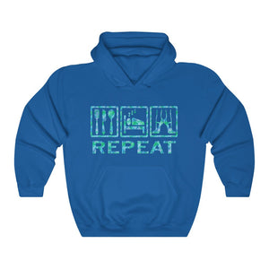 EAT, SLEEP, REPEAT Men Hooded Sweatshirt | Ballet Quote Men Sweatshirt | Men Sweatshirt | Dancer Sweatshirt