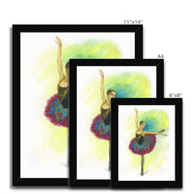 Load image into Gallery viewer, While I Breathe, I Hope ballerina Art Framed | Ballerina  Picture Frame | Home Decor  | Ballet Wall Art | Wall Art