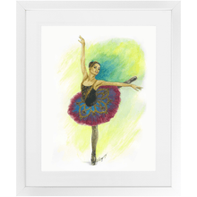 "Load image into Gallery viewer, While I Breathe, I Hope Ballerina Wall Art  | Matted & Framed 11"" By 14"" Ballet Art 