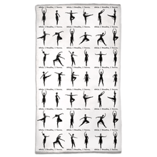 Load image into Gallery viewer, Travel Size Towel | While I Breathe, I Dance Ballet Pose Gym Towel | Ballet Class Accessory | Dance Accessory - Ballet Geek