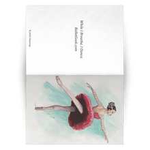 Load image into Gallery viewer, Greeting Cards Ballet Art ( in 10/30/50 pcs Print In USA) | Illustrated Ballerina Print On Greeting Cards | Ballert Art Greeting Cards | All Occasion Greeting Cards Ballet Illustration - Ballet Geek