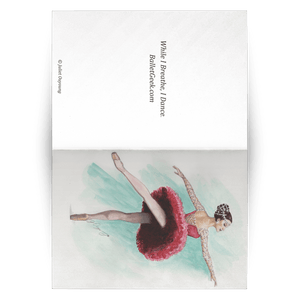 Greeting Cards Ballet Art ( in 10/30/50 pcs Print In USA) | Illustrated Ballerina Print On Greeting Cards | Ballert Art Greeting Cards | All Occasion Greeting Cards Ballet Illustration - Ballet Geek
