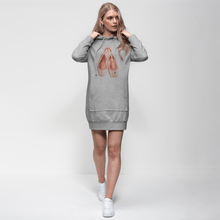 Load image into Gallery viewer, Fun Toe Shoes Print Adult Hoodie Dress | Jumper Dress | Ballet Apparel | Dance Apparel - Ballet Geek