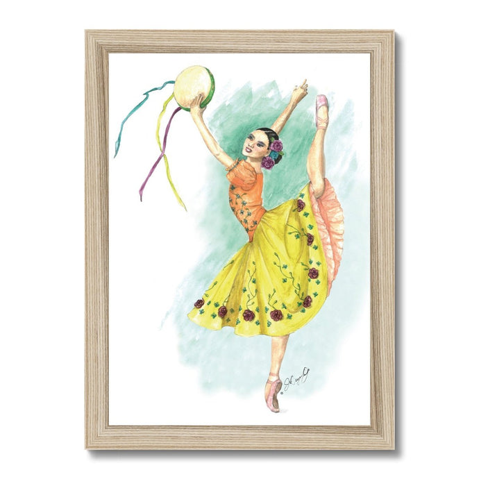 While I Breathe, I Celebrate Ballerina Art Framed | Illustrated Ballerina Print Framed | Ballet Art Framed | Wall Art | Ballet Home Decor - Ballet Geek