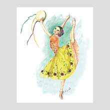 Load image into Gallery viewer, Easel Back Canvas Ballerina art | Ballerina Print On Canvas With Easel Back | Standing Canvas | Ballet | Ballet Gift