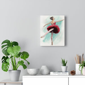 Canvas Gallery Wraps  Illustrated Ballerina Art | Ballet Wall Art | Home Decor | Ballet Gift - Ballet Geek