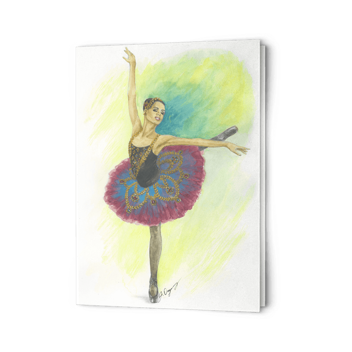 Ballet Art Greeting Cards ( Print In USA ) | Ballerina Greeting Cards | Greeting Cards | Ballet | Stationery - Ballet Geek