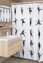 Load image into Gallery viewer, Ballet Dancers Shower Curtain | Ballet Shower Curtain | Ballet Gift  | Shower Curtain