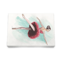 Load image into Gallery viewer, Greeting Cards Ballet Art ( in 10/30/50 pcs Print In USA) | Illustrated Ballerina Print On Greeting Cards | Ballert Art Greeting Cards | All Occasion Greeting Cards Ballet Illustration