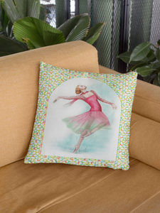 While I Breathe, I Dance Ballerina Pillow | Ballet Decorative Pillow - Ballet Geek