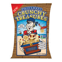 Pirate's Booty Crunchy Treasures Aged White Cheddar Chips - 12/4 oz