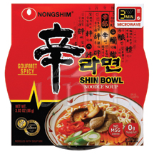 Nong Shim Shin On The Go Noodle Bowl - 12/3.03 oz