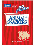 BISCOMERICA Basil's Animal Snacker Chocolate 100/1 oz