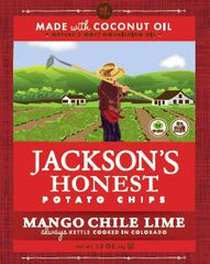 Jacksons Honest Chips Mango Chile Lime Coconut Oil At least 70% Organic 1.2 oz